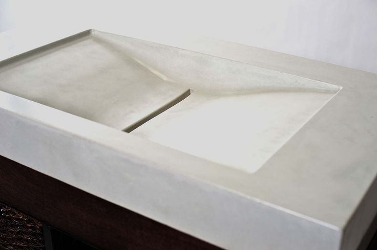 Angled Sink : angled concrete sink House Porn Pinterest