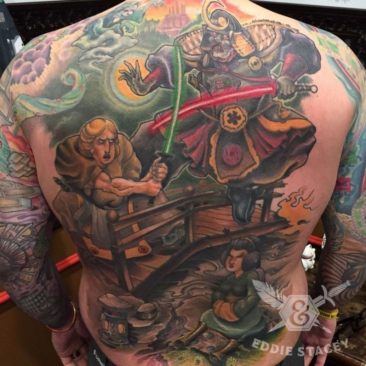 Best Tattoo Ever: Vader and Luke Battle in Feudal Japan
