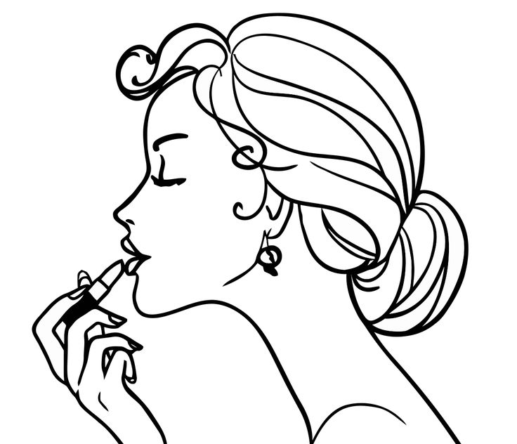 free girl coloring pages to print | Coloring Girls coloring pages for girls makeup. cosmetics ...