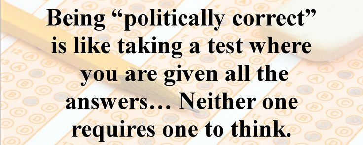 Politically correct.. or not!