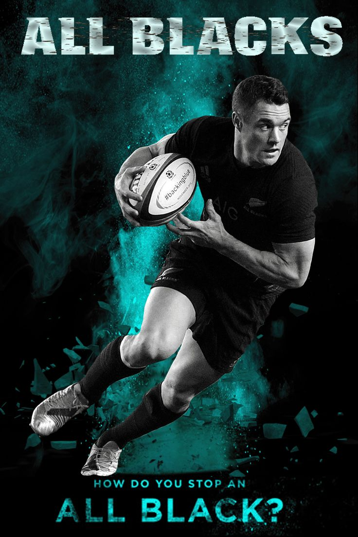 Dan Carter - All Blacks rugby 2015 How Do You Stop An All Black? (Series) Created in Photoshop by Gordon Tunstall