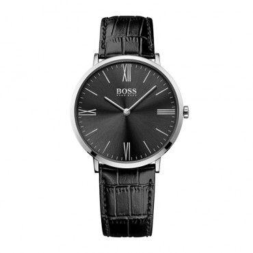 1513369 Ανδρικό quartz ρολόι HUGO BOSS με μαύρο καντράν & μαύρο δερμάτινο λουρί | Ανδρικά ρολόγια BOSS ΤΣΑΛΔΑΡΗΣ στο Χαλάνδρι #Boss #jackson #λουρι #ανδρικο #ρολοι