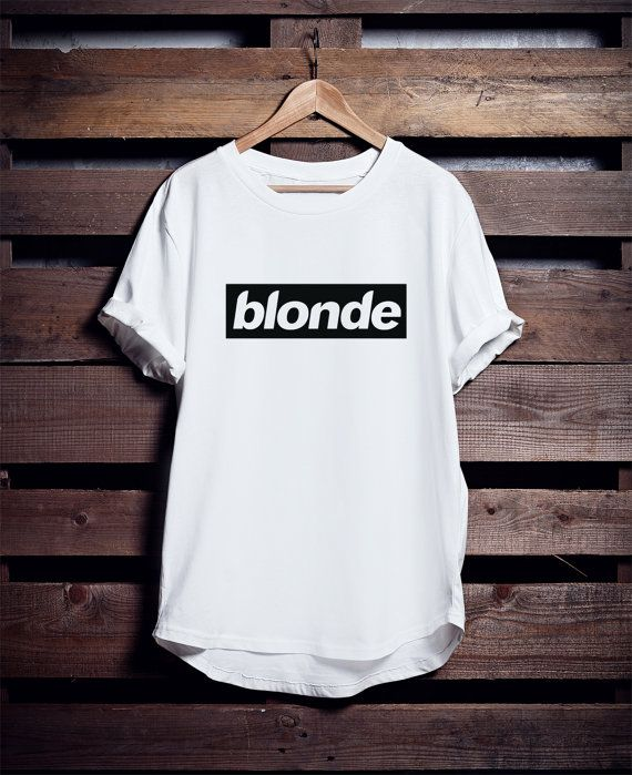 Blonde Frank Ocean T Shirt  Blond Album Apparel  100% by OcnurShop                                                                                                                                                                                 More