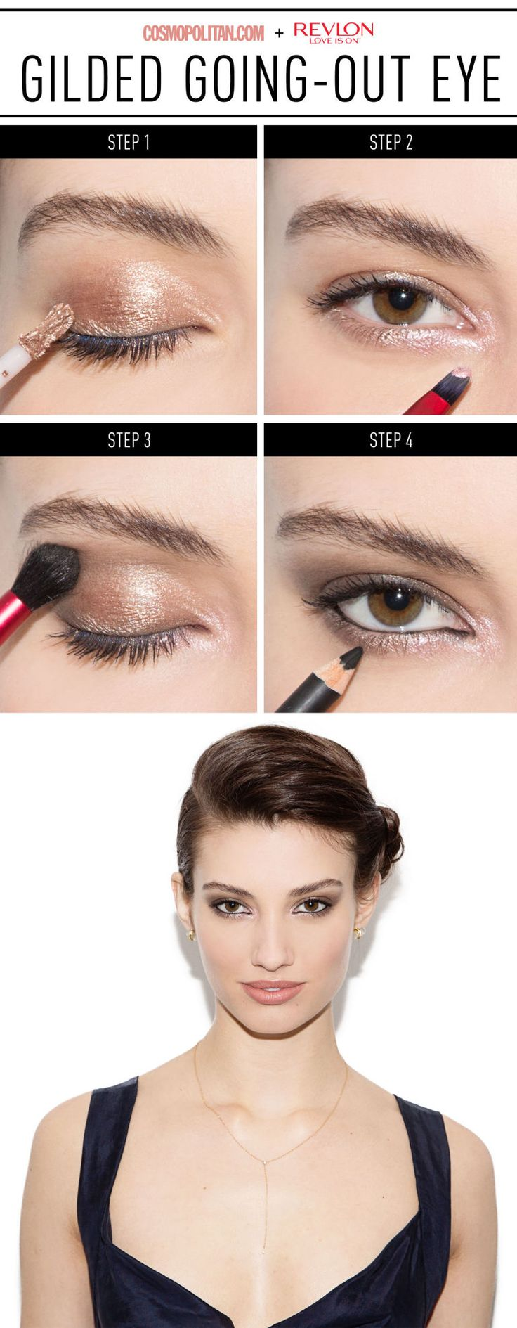 When you want him not to take his eyes off you, it doesn't hurt to have on some beautiful eye makeup.