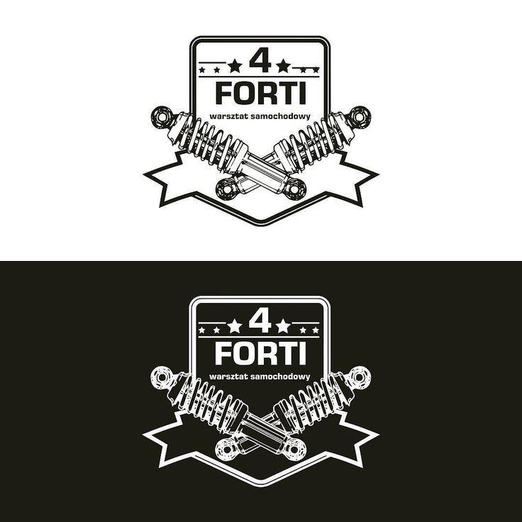 Logotyp dla warsztatu samochodowego 4Forti #projektgraficzny #graphicdesign #logo #mgraphics #buskozdroj www.mgraphics.eu