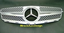 FRONT GRILLE (SILVER) ASSEMBLY SET FOR 2007-2014 MERCEDES BENZ W204 C-CLASS