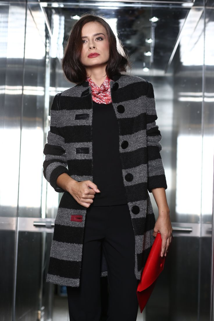A warm, fashionable woolen coat #winter #womenwear #fashion