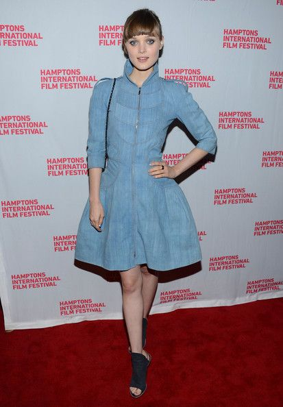 Bella Heathcote, Hamptons International Film Festival, Chanel Versaille Cotton Toile Dress Resort 13 collection