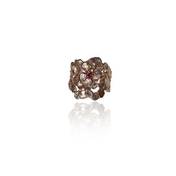 Elegancki pierścień z rodolitem - Dorota Kos -