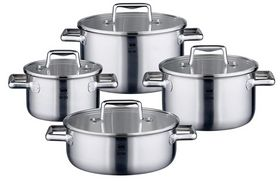 Buy this ELO Premium Multilayer Stainless Steel Kitchen Induction Cookware Pots and Pans Set with Multilayer Heating System with deep discounted price online today.