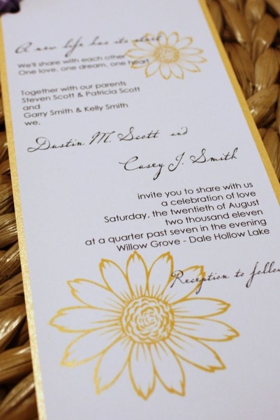 find this pin and more on wedding decor ideas handmade sunflower wedding invitation