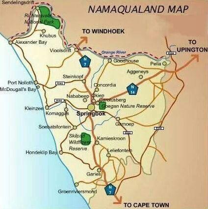 Map of Namaqualand