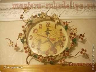 Мастер-класс по филиграни из джута: Шпагатные часы