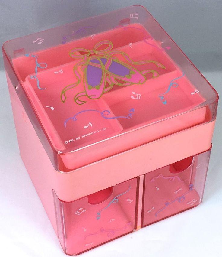 VTG SANRIO ❤︎ PETITE PLIE BALLET JEWELRY BOX/CASE/CONTAINER ❤︎ RARE KAWAII 1989