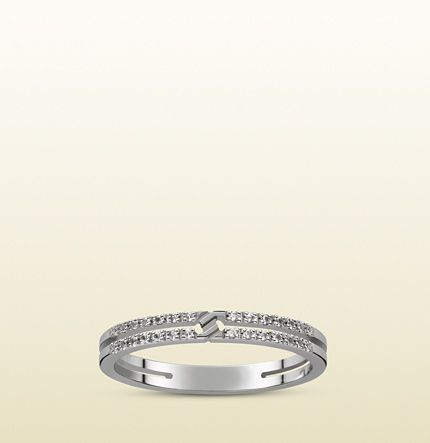 Gucci - 日本限定グッチ インフィニティ リング(ホワイトゴールド、ホワイトダイヤモンド) 373536J85409066