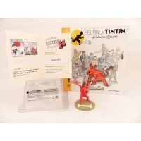 Figurine collection officielle Tintin n°51Milou mi démon