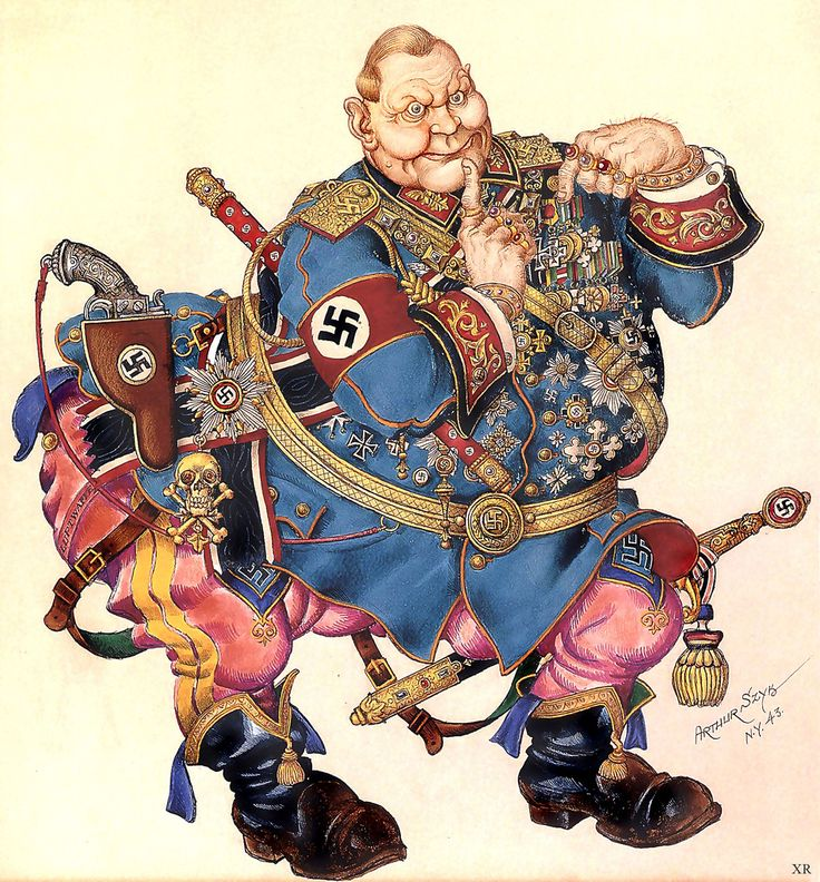 1944 ... Nazi- Field Marshall Hermann Goering Caricature