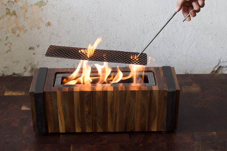 Old Industrial Tabletop Fireplace - Reclaimed by Demant