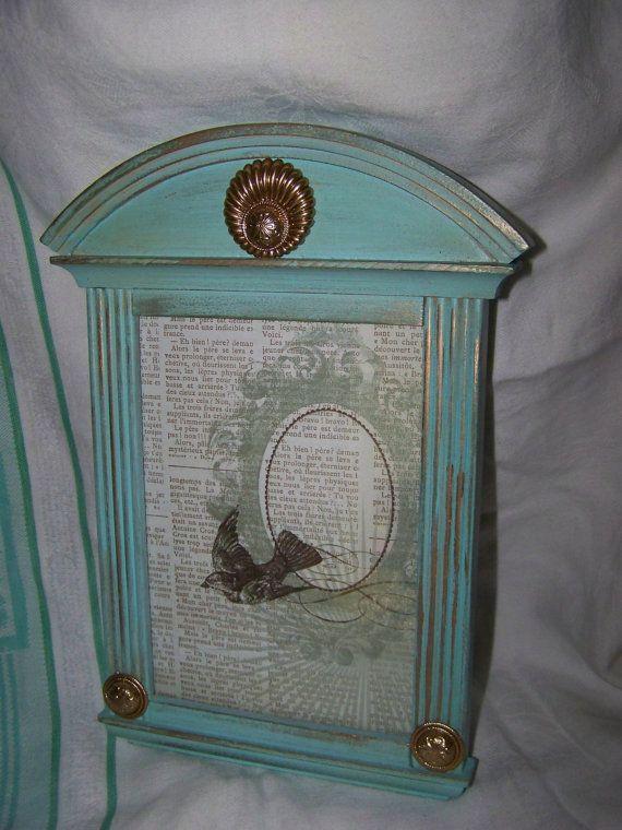 Upcycled Aqua Frame Vintage Jewelry Embellished by Dallas2Denver, $28.00