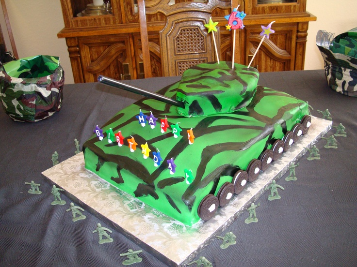 Army Tank Cake I Made For My Little Boy Theme Cakes I