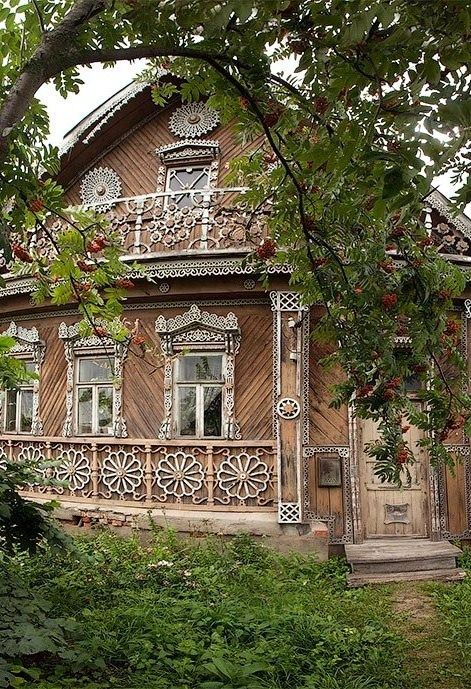 Old Russian dacha. #wooden #house: