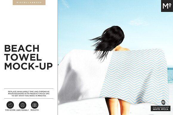Beach Towel Mock-up by Mocca2Go/mesmeriseme on @creativemarket