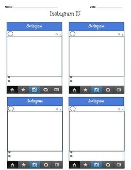 INSTAGRAM TEMPLATE PACK : engage students with these two blank Instagram templates!  Can be used for any subject to reinforce ideas and get students excited to learn.