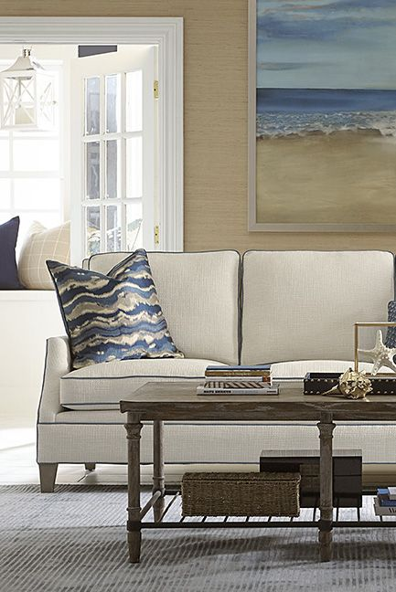Create A Serene Space Inspired By Beaches And Boating. The Havertys  Constance Sofa And Accent