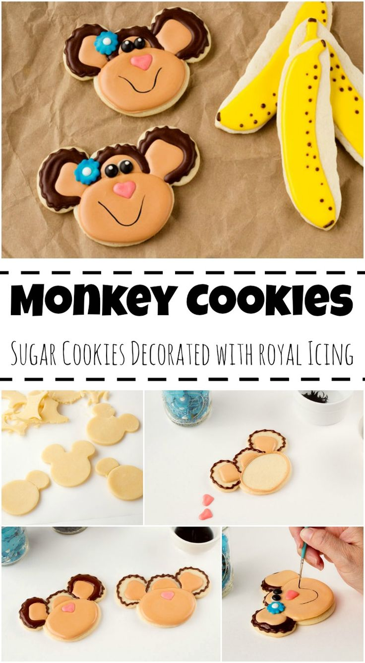 Simple Monkey Cookies via www.thebearfootbaker.com