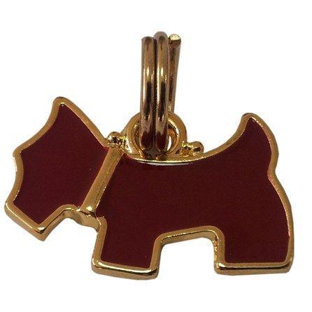 Pingente Cachorrinho Esmaltado Ouro Vermelho Woof - MeuAmigoPet.com.br #petshop #cachorro #cão #meuamigopet