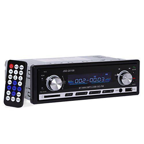Autoradio YOKKAO Radio de Voiture FM Stéréo MP3 Lecteur Audio Bluetooth Support SD/MM Carte, USB Clé, 3,5mm Aux avec Télécommande: Pourquoi…