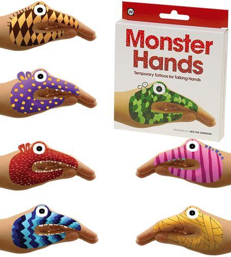 Monster hands   Lovin these temp tattoos
