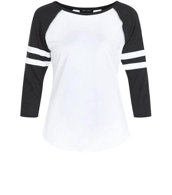 Petite White Raglan Top | New Look