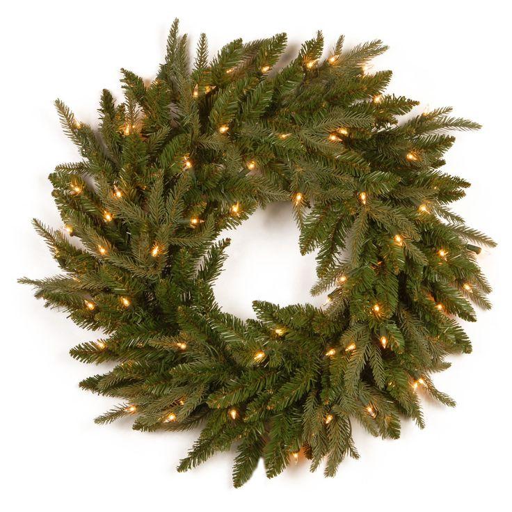 Beautiful  in Feel Real Fraser Grande Pre Lit Wreath from
