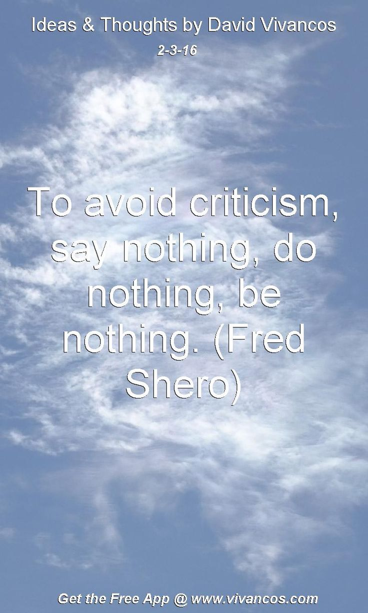 To avoid criticism, say nothing, do nothing, be nothing. (Fred Shero) [February 3rd 2016] https://www.youtube.com/watch?v=g60A0FrArc8