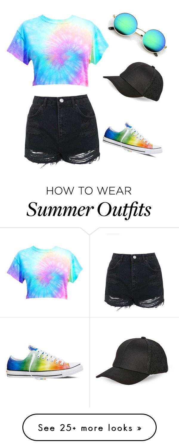 Summer outfit by burton-keri on Polyvore featuring Topshop, Converse and BCBGeneration