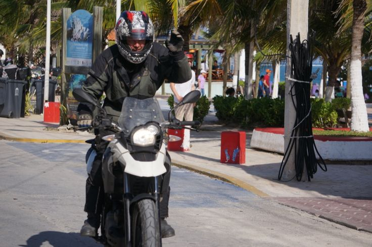 "Spike arrives in beautiful Puerto Morelos: See all the stories about that motorcycling nirvana called Mexico on our Ferris Wheels Motorcycle Safaris Tacos 'n' Tequila tour. Just go to motorbike writer.com and search for ""Mexico""."