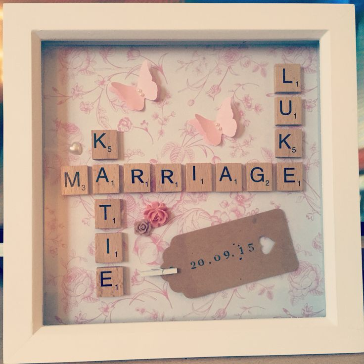 A new hobby I've recently started, made this as a gift using wooden scrabble letters and various embellishments :-)
