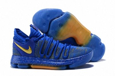 Comfortable Nike Zoom Kd10 Ep Kevin Durant Royal Blue Gold Mens