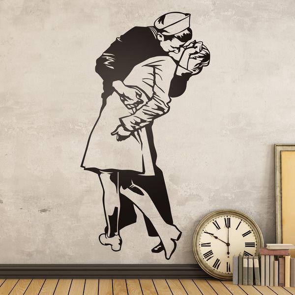 Adesivi Murali: La rivista Life bacio #sanvalentino #valentino #decorazione #vinyle #adesivi #muro #vetrina #negozio #deco #StickersMurali