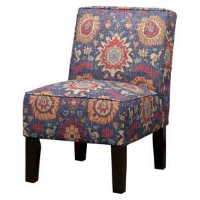 Burke Accent Print Slipper Chair