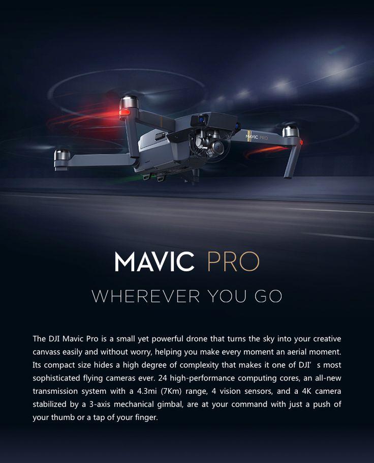 DJI Mavic Pro OcuSync FPV With 3Axis Gimbal 4K Camera RC Quadcopter RTF