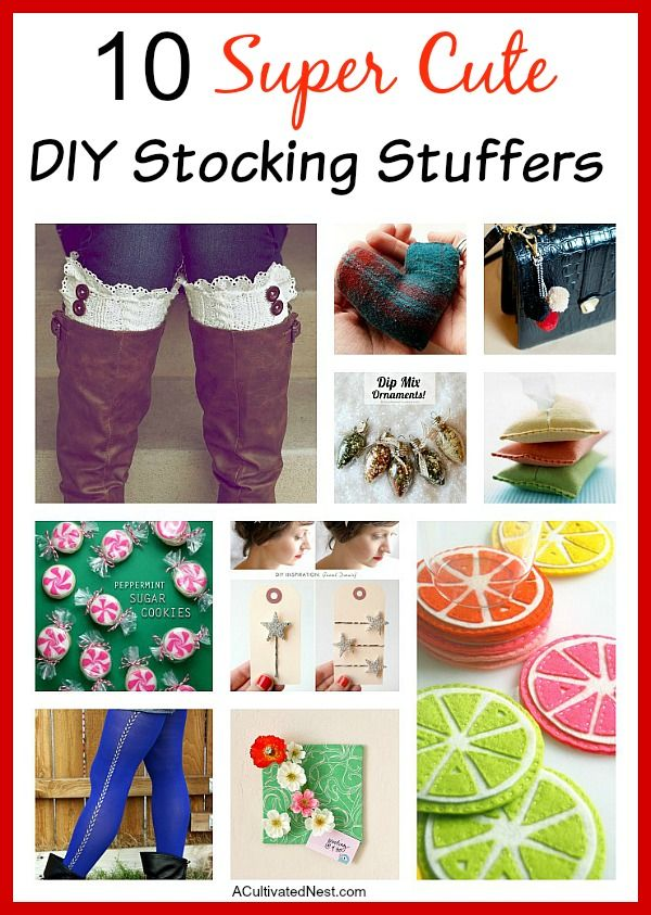 Do you need some ideas for DIY stocking stuffers? I've collected 10 really cute ideas for you!