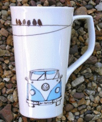 VW Camper Latte Mug - I LOVE Vdubs