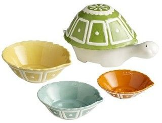 Ceramic Turtle Measuring Cups - eclectic - kitchen tools - by Pier 1 Imports
