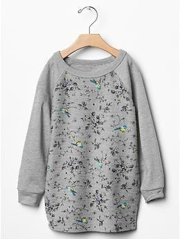 Floral raglan sweatshirt dress