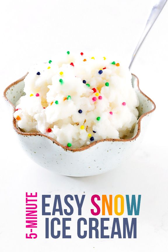 There is still some snow in the country, so celebrate one last winter storm with this delicious, easy snow cream recipe!