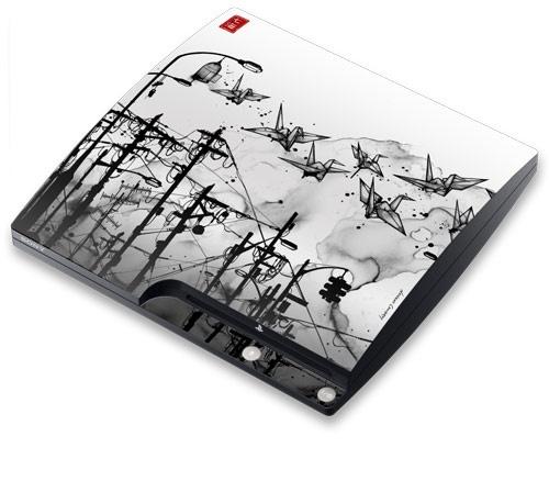 Nanami Cowdroy - Cable Cranes - PS3 Slim | GelaSkins: Nanami Cowdroy, Cable Cranes, Ps3 Slim
