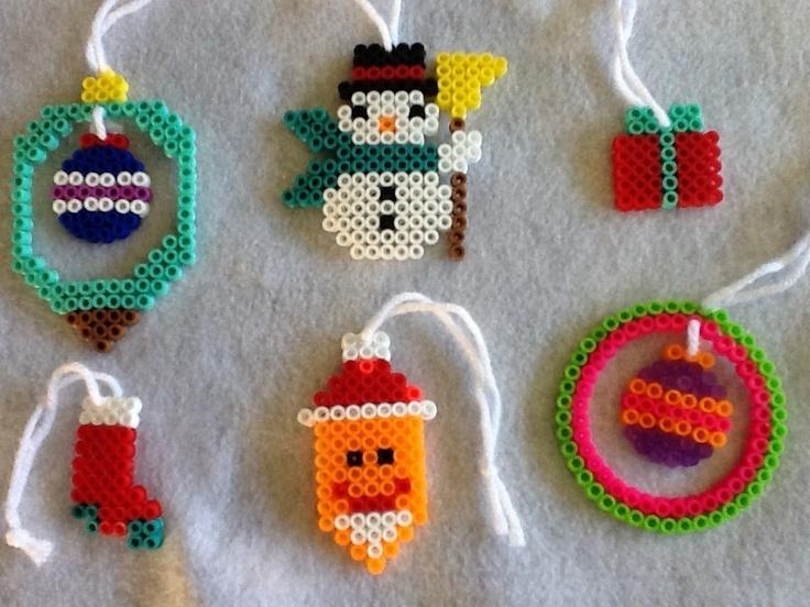 Perler Bead Christmas Tree Ornaments