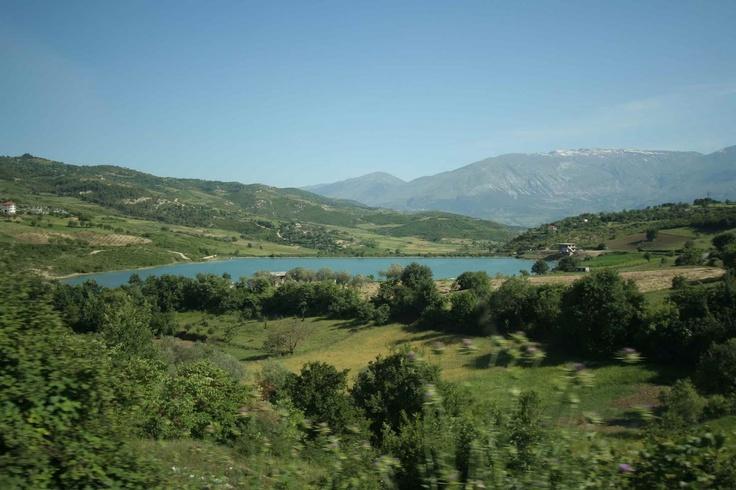 Road to the capital. Albania